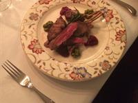 Menu A trio of Lamb A rack of Lamb, Lamb fillet and Lambs Kidney served with mint and Pesto