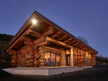 Salix-Log Cabin-Luxury-Ensuite-Sea View - Salix-Log Cabin-Luxury-Ensuite-Sea View