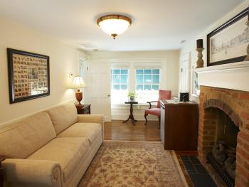 The Luter Suite's sitting room is perfect for weekend getaway or business travel