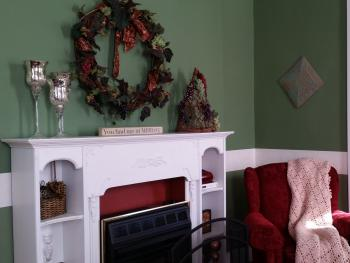 Gas Fireplace in Parlor