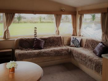Pitch & Canvas - Self Catering at Broad Oak Farm - Living Area - Beeston View