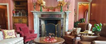Comfortable Parlor with Count Rumford Fireplace