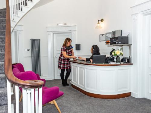 Welcoming manned reception area