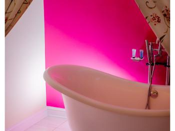 Double slipper bath in The Stable suite.