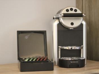 Nespresso machines in every room