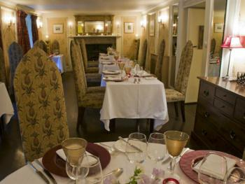 Enjoy a great dinner in the intimate dining room