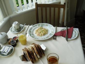 Smoked Salmon and scrambled egg is favourite at Agar House.