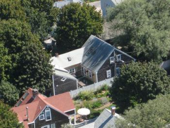 View of the Moffett House Inn from the Provincetown Monument