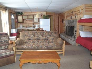 Walleye Fireplace Kitchenette