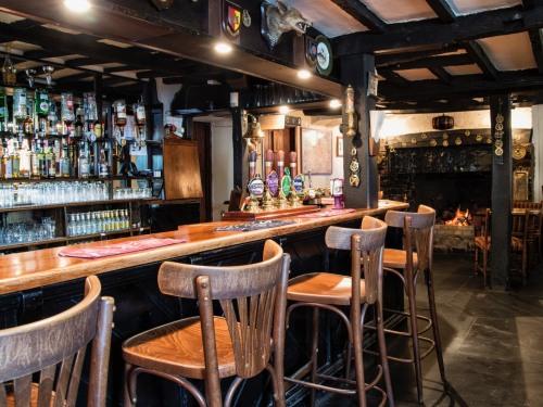 Cosy fireside bar