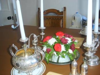 Breakfast table ornaments at Carlton Seamill