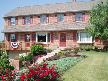 Homestead Lodging and gorgeous landscaping