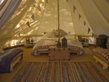 Bell tents sleep 4