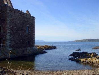 Portencross Castle and mediaeval harbour, near Seamill