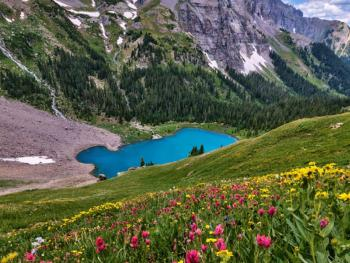Blue Lakes: on one of the many hiking trails in Ouray County