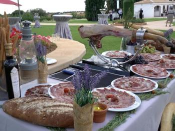 comida evento jardin