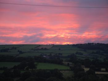 Beautiful Sunsets can be seen directly from Teifi View.
