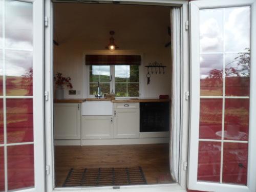 French Doors entering Shepherds Hut