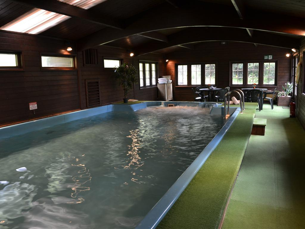 Swimming pool with jacuzzi and a sauna to relax after climbing Snowdon. We always can tell who has and hasn't used the sauna...