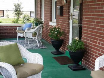 Relaxing Front Porch Seating Area