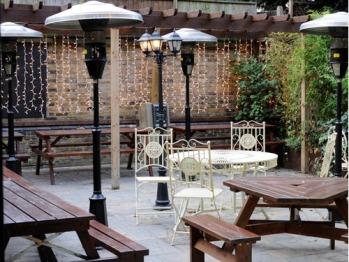 The wonderful Beer Garden in our Gastropub
