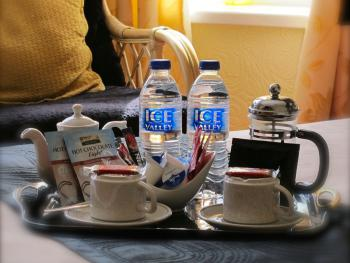 Hospitality trays in all bedrooms, some with coffee press