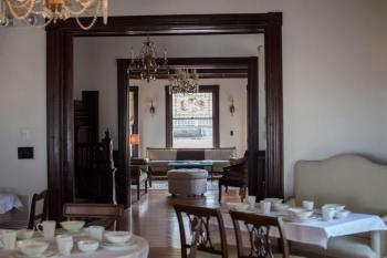 Dining room with view to front foyer