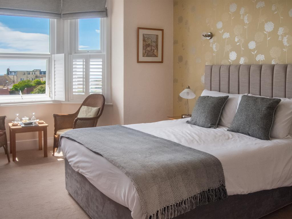 Lyme Bay room with sea views