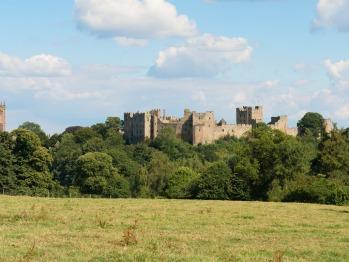 Ludlow Castle lies just across the River Teme