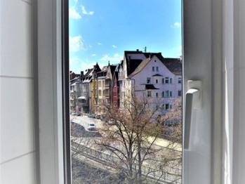 Aussicht vom Badezimmer des Appartements