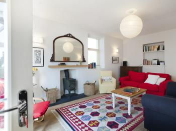 The larger sitting room - comfortable for 8 people