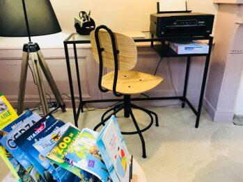Le coin bureau et ses équipements