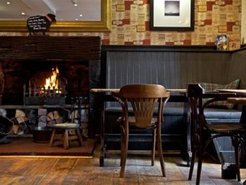 Open Log fires, reclaimed timber floor.