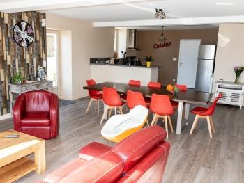 séjour, salle à manger, salon, cuisine ouverte