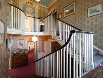 The original Georgian staircase is beautiful way to arrive at your room