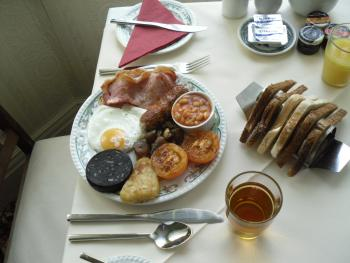 Our standard full cooked breakfast.