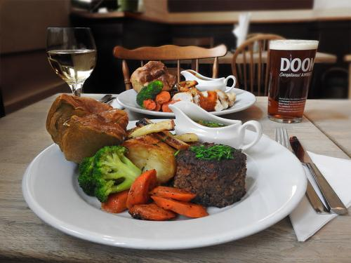 Sunday roast - vegetarian options available
