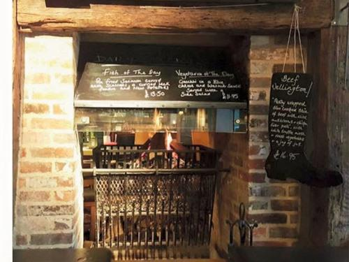 Along with the eye-catching original features in our charming restaurant, enjoy a nice cosy meal by the open log fires on colder evenings to add to the ambience.