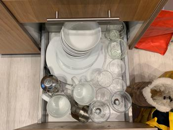Crockery and glasses