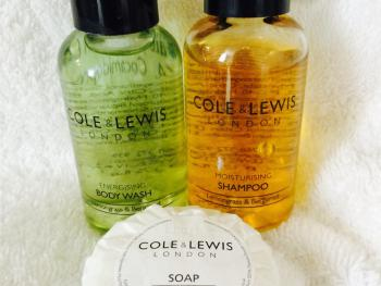 Cole and Lewis Toiletries are complimentary in all of our rooms.