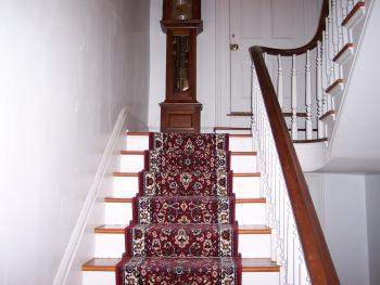 Staircase leading to Woodrow Wilson Suite