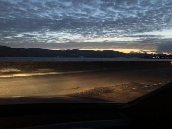 View at dusk...