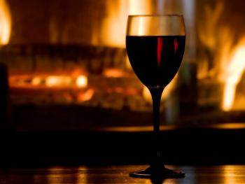 Enjoy a drink in front of the open fire