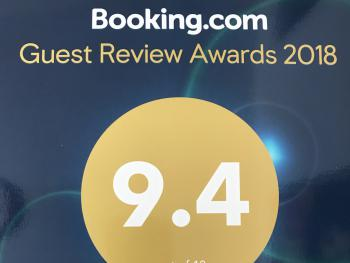 Rated 9.4 by booking.com guests