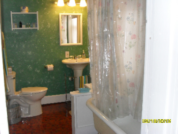 Ciara room  private bath with claw foot tub and shower