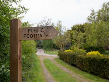 Footpath from property to Ranworth