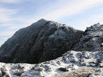 View of Snowdon summit (February 2006)