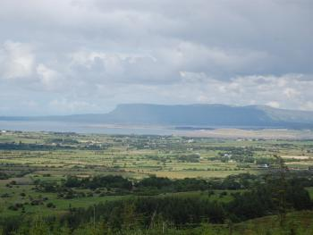View on top of the Ox Mountains looking out on Sligo Bay