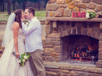 Enjoy an outdoor wedding ceremony at Hilltop Manor. There are several options to choose from, and if inclement weather happens to come, we simply move you into the historic dining room.