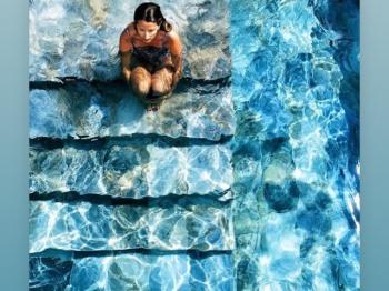 Vue drone piscine